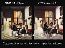 Handmade paintings of artists on canvas