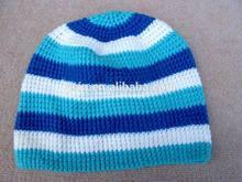 high quality knit plush Crochet beanie P097