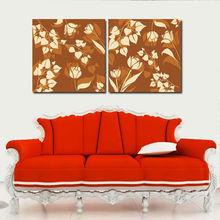 frameless oil painting flower picture