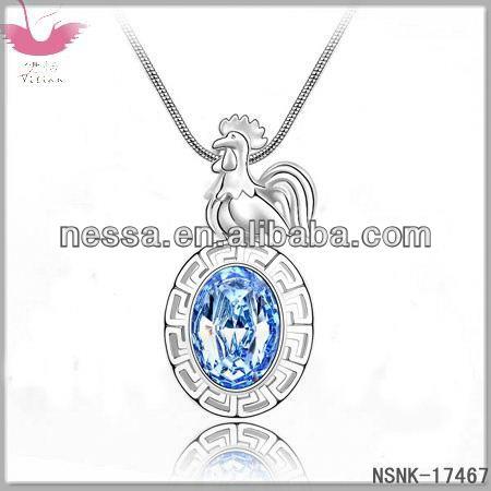 E80287 Austrian crystal necklace - rose fruit (Highland)