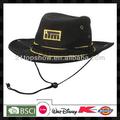 logo bestickt billige filz schwarze cowboyhut