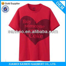 OEM Customized Low Price Simple Round Neck T Shirt 100% Organic Cotton