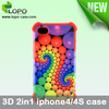 3D 2 in 1 Phone Case for iphone4/4s