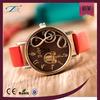 promotional gift colorful wrist leather fancy quartz oem bronze color case time america fashion ladies wrist watches