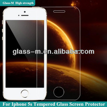 For iphone 5s tempered glass screen protector cover cheap price
