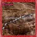magnética de titanio tachonado agraciado brillante caliente de ventas guapo niños tejido pulsera de cuero
