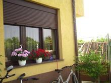 Motorized aluminum roller shutter window exterior