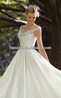 Beaded Embroidery on Luxe Taffeta wedding dress