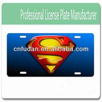 personalized novelty aluminum license plate custom car tag Superman logo
