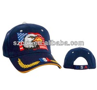 2014 fashion navy cap army cap military hat with eagel logo embroidery
