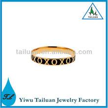 Fashion O and X Enamel Bracelet Bangle