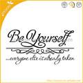 Zooyoo letras de vinilo de ser tú mismo 3d de la pared de papel de arte decoración de hogar/calcomanías