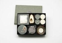 Los regalos más populares conjunto vela perfumada incienso palos/calentador de cerámica/esencial quemador de aceite set