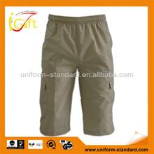 Hot summer sports muti-pkts mens mid length poly light pants