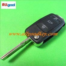 Top quality vw remote key for vw remeot key 3 button1KO 959 753 N 433Mhz, ID48chip, car keys, key fob casing