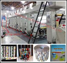 Film color register gravure printing machinery /Bopp/Pvc/PE