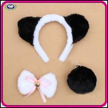 Wholesale kids animal ear headband pink minnie mouse headband and bow