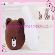 custom cute bear and rabbit plush animated cushion