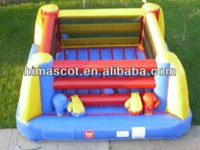 HI 2014 crazy inflatable bouncy boxing,inflatable fighting ring boxing