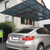 Outdoor glass roof metal car garage port