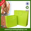 green paper shopping bag & shopping paper bag