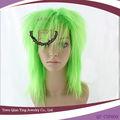lungo luminoso verde cosplay parrucca sintetica