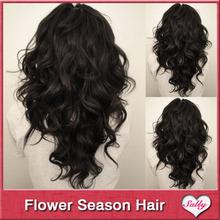 Aliexpress hot sale wavy hair u part wigs 1B, 20inch unprocessed virgin hair u shaped wigs for sale