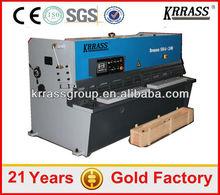 Krrass Brand hydraulic ms sheet cutting machine with 2 years warranty