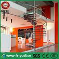 interni moderni scale a chiocciola in ferro per piccolo spazio