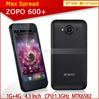 Cheapest ZOPO MTK6582 QUAD CORE 1.3GHZ Original ZP600+ smart phone