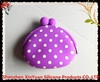 1pc Cute Charms Candy Purple Color Silicone Coin Purses Rubber Wallets Bag