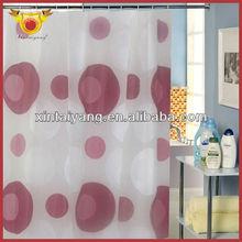 Red Bubble Bath Luxury European Style Window Curtain