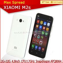 100% latest arrival original XiaoMi 2S 4.3 inch screen 1280*720 1.7Ghz quad core-CPU smart handphone