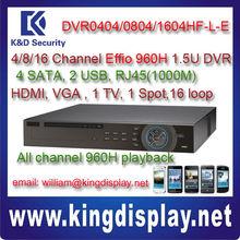 dahua standalone dvr 960h DVR0404/0804/1604HF-L-E 4/8/16 Channel Effio 960H 1.5U Standalone DVR 16 loop IR