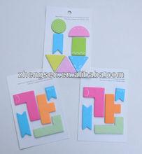 letter shaped sticky notes/geometric figure shaped sticky notes