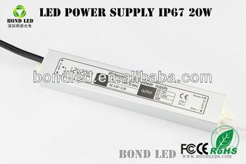 BD-20 Led Driver, 20W 12V 24V Waterproof Power Supply, IP67 Waterproof Led Power Supply