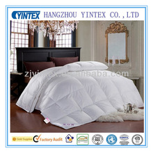 Professional manufacturer white 100% cotton fabric high quality white goose down comforter