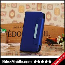 Hdan Grain Leather Folio Wallet Case For Samsung Galaxy S4 I9500 Lady Lanyard Case