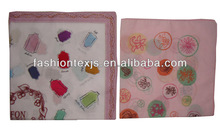 High Quality wholesale Cotton fancy print handkerchief