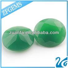 lab created big jade green loose glass gemstones