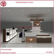 Mall Retail Wood Handbag Kiosk Showcase Handbag Store Display Furniture For Sale