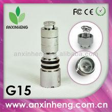 newest wholesale dry herb vaporizer vape pen G15 glass globe coil nails