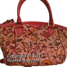 2013 Classic Leather Beaded Handbag