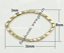 horse eye brass linking ring