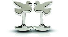 Sterling Silver Love Bird Cufflinks