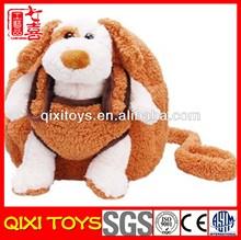 cute plush animal baby plush dog backpacks
