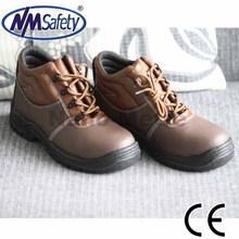NMSAFETY cow split leather cheap work footwear