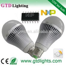 2014 new bulb cri>80 2700K 12w smd5630 e27 ce rohs tuv a60 bulb dimmable led bulbs 12w e27