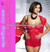 sexy underwear red nylon transparent babydoll lingerie www sex image .com