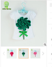 baby girls tee t-shirts childrens Tee Babys Tshirt girl's t shirt big flowers t shirts top sweety wears tops